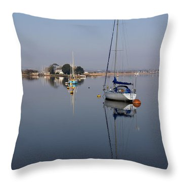 Exe Estuary Throw Pillow