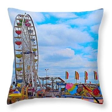#exploring The #austin, #texas #rodeo Throw Pillow