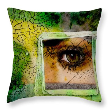 Eye, Me, Mine Throw Pillow