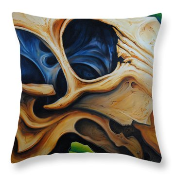 Eye Socket Throw Pillow