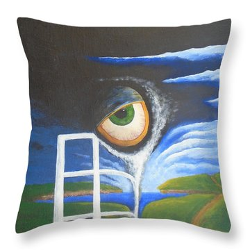 Eyefence Throw Pillow