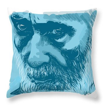 Throw Pillow featuring the digital art Eyes by Antonio Romero