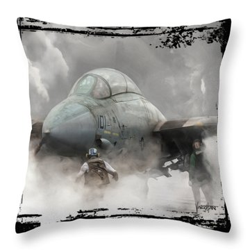 F-14 Smokin' Hot Throw Pillow