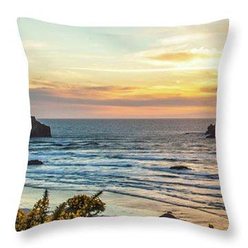 Face Rock At Sunset Throw Pillow