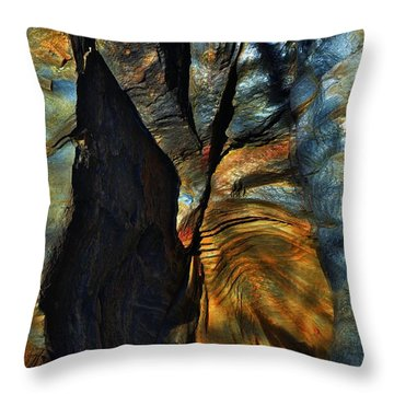 Throw Pillow featuring the photograph Faces by EDi by Darlene
