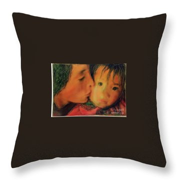 Faces Of Hope Nepal Throw Pillow