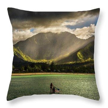 Facing The Storm Throw Pillow