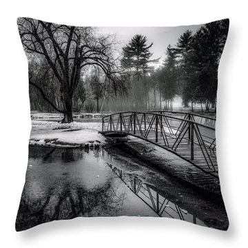 Throw Pillow featuring the photograph Fade To Black by Kendall McKernon