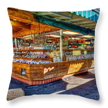 Fairfax Farmers Market Throw Pillow by David Zanzinger