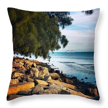 Warm Ocean Breeze Throw Pillow by Janel Cortez