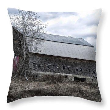 Faithful Old Barn Throw Pillow by Richard Bean