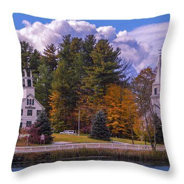 Fall Foliage In Marlow, New Hampshire. Throw Pillow