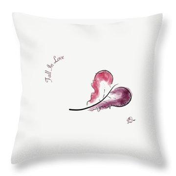 Fall In Love Throw Pillow by Jason Nicholas