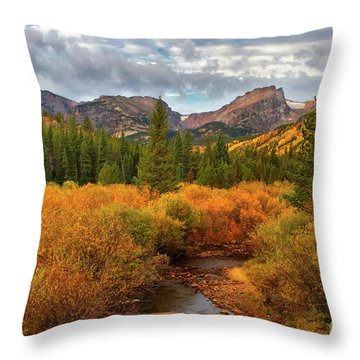 Fall In Rocky Mountain National Park Throw Pillow