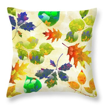 Fall Leaf Pattern Throw Pillow