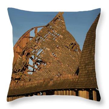 Throw Pillow featuring the photograph Falling Apart by Elvira Butler
