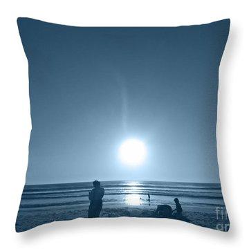 Throw Pillow featuring the photograph Falling Moon  by Beto Machado
