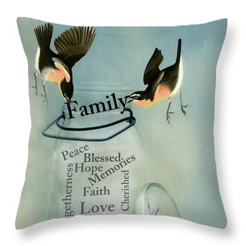 Throw Pillow featuring the photograph Family by Robin-Lee Vieira