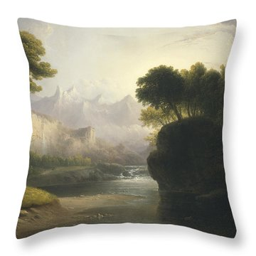 Fanciful Landscape Throw Pillow
