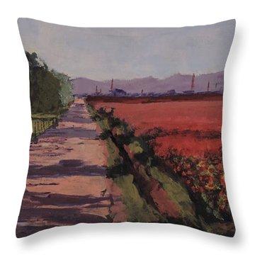 Farm Road Throw Pillow