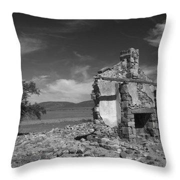 Farmhouse Cottage Ruin Flinders Ranges South Australia Throw Pillow
