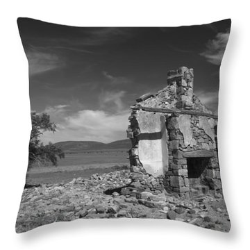 Farmhouse Cottage Ruin Flinders Ranges South Australia Throw Pillow