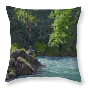 Favorite Spot Throw Pillow by Karen Ilari
