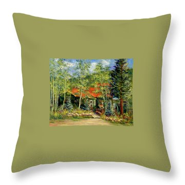 Fawnbrook Inn Throw Pillow by Jill Musser