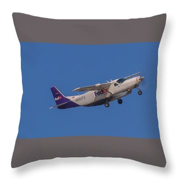 Fedex Airplane Throw Pillow