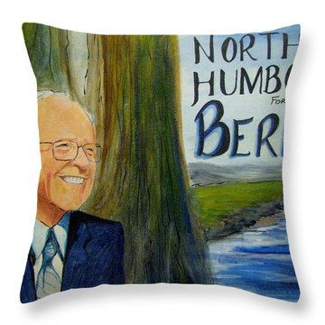 Feel The Bern Throw Pillow