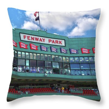 Throw Pillow featuring the photograph Fenway Park by Mitch Cat