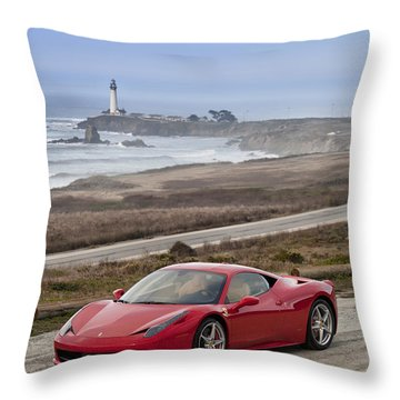 Throw Pillow featuring the photograph Ferrari 458 Italia by ItzKirb Photography
