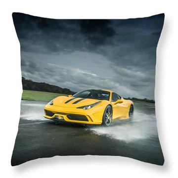 Ferrari 458 Speciale Throw Pillow