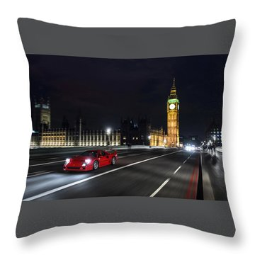 Ferrari F40 London Throw Pillow