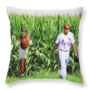 Field To Field Throw Pillow by John Freidenberg