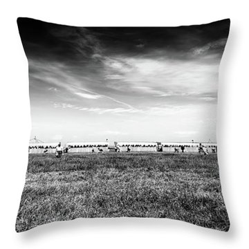 Throw Pillow featuring the photograph Fields Of The Elysium Locomotive by John Williams
