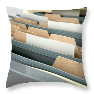 Filing Cabinet Drawer Open Generic Throw Pillow