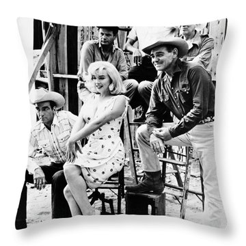 Film: The Misfits, 1961 Throw Pillow by Granger