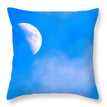 Finally Some #bluesky And The #moon Throw Pillow