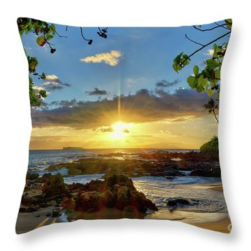 Find Your Beach Throw Pillow