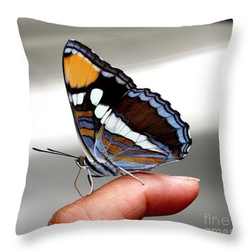 Finger Blessing Throw Pillow