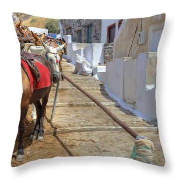 Fira - Santorini Throw Pillow