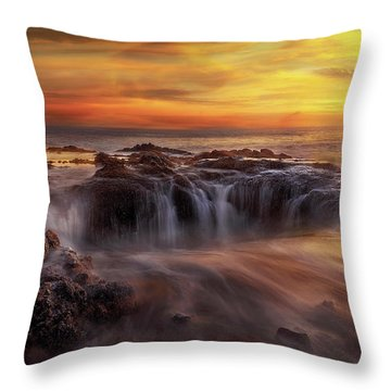 Fire And Water Throw Pillow by David Gn