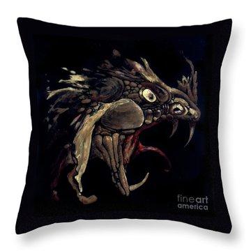 Fire Dragon Throw Pillow by Liz Molnar