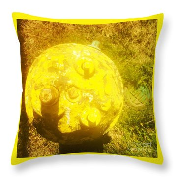Fire Hydrant #4 Throw Pillow