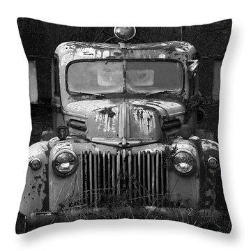 Fire Truck Throw Pillow by Ron Jones