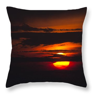Fireball Throw Pillow by Nancy Dinsmore