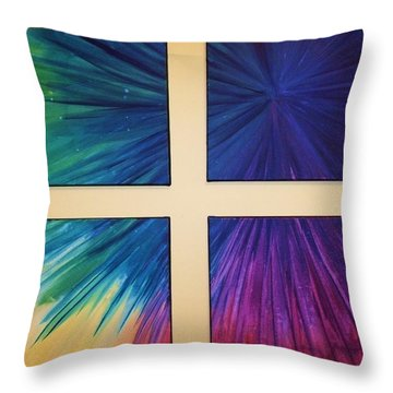 Fireworks Throw Pillow by Anna Villarreal Garbis