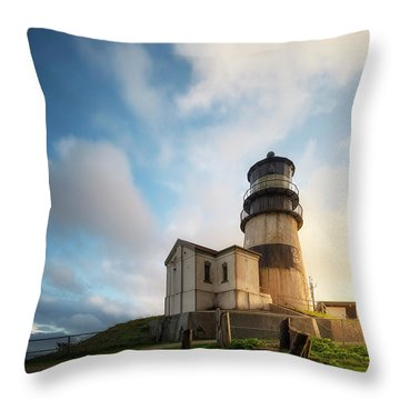 Throw Pillow featuring the photograph First Light by Ryan Manuel