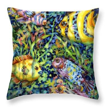 Fish Tales Iv Throw Pillow